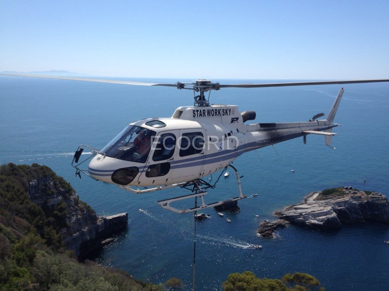 Lavori con elicottero
