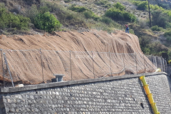 Posa reti geocomposito consolidamento versanti